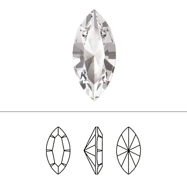 スワロフスキー 『#4228 XILION Navette Fancy Stone ホワイトオパール 15×7mm 1粒』 SWAROVSKI スワロフスキー社