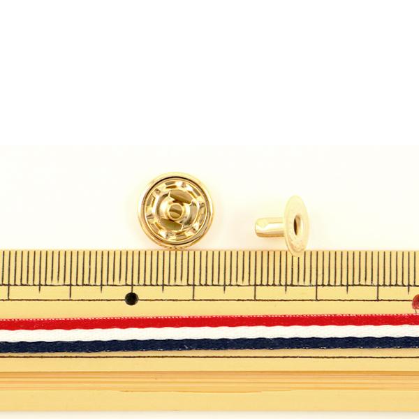 手芸金具 『ホック 大 本金 10個入り 1045-11』 LEATHER CRAFT クラフト社