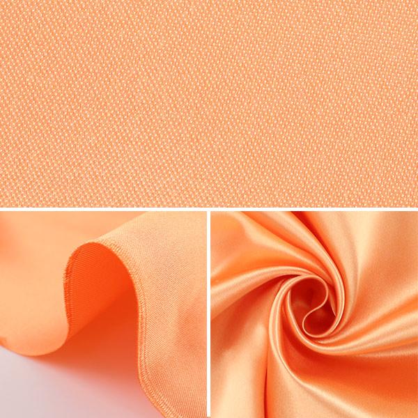 【数量5から】生地 『セラミカサテン 310-12 薄オレンジ』