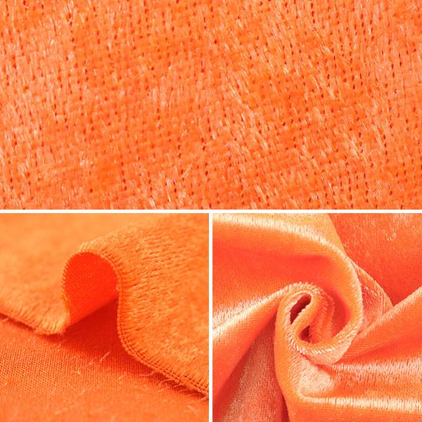 【数量5から】生地 『クラッシュベロア オレンジ GD3300-141』