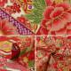 【数量5から】 生地 『スケア 金粉和柄 六角牡丹 赤 850274-3-1』