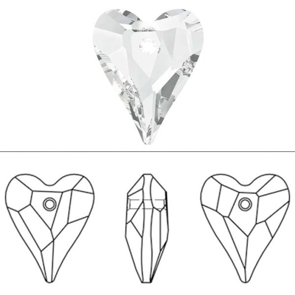 スワロフスキー 『#6240 Wild Heart Pendant クリスタル/AB 17mm 1粒』 SWAROVSKI スワロフスキー社