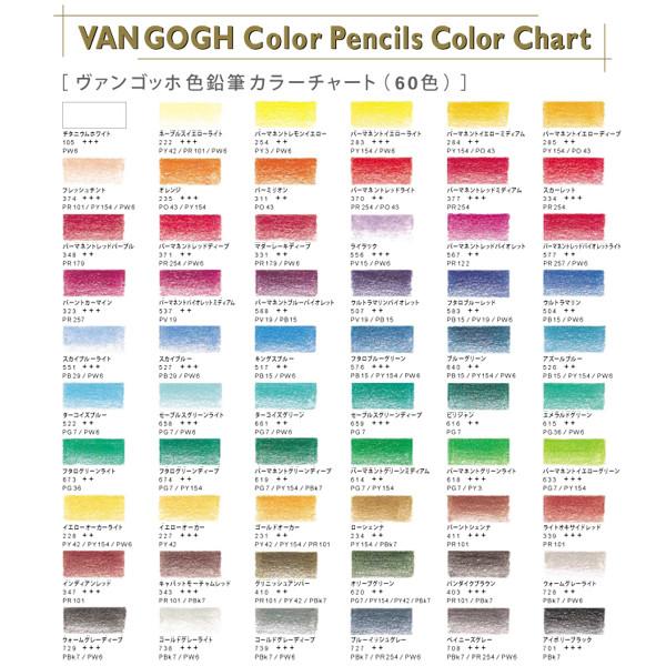 鉛筆 『ヴァンゴッホ油性色鉛筆60色セット』 VAN GOGH ヴァンゴッホ