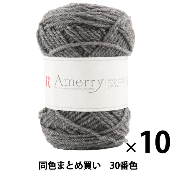 【10玉セット】秋冬毛糸 『Amerry(アメリー) 30番色』 Hamanaka ハマナカ【まとめ買い・大口】