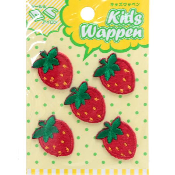 ワッペン 『キッズワッペン いちご』 KWP-14