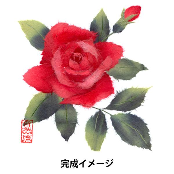 ちぎり絵キット 『和紙ちぎり絵制作セット ミニ色紙サイズ バラ』