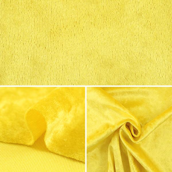 【数量5から】生地 『クラッシュベロア イエロー 黄色 GD3300-127』