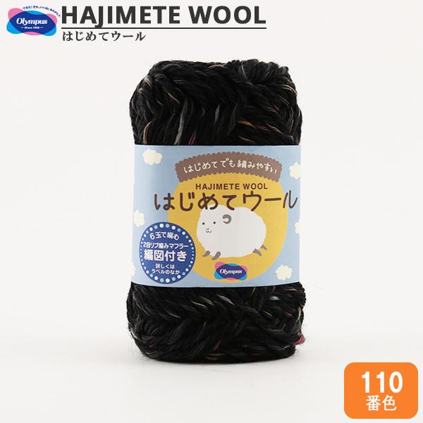 秋冬毛糸 『はじめてウール 110番色』 Olympus オリムパス