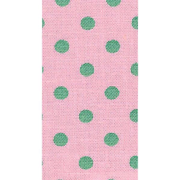 お名前ラベルシール 『くるくるおなまえテープ2.3cm ピンク*グリーン水玉 11-801』 KAWAGUCHI カワグチ 河口