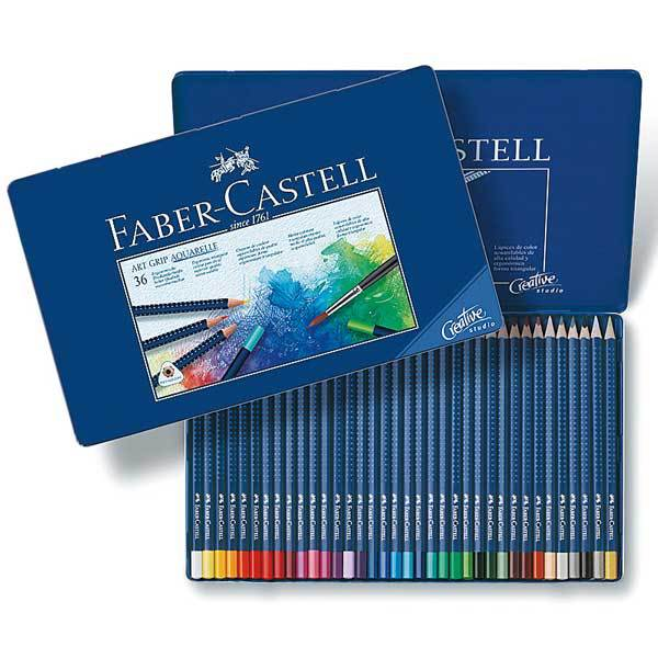 絵筆 『アートグリップ水彩色鉛筆 36色缶入りセット 114236』