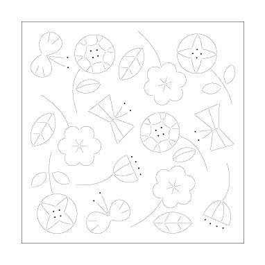 刺しゅう布 『北欧モチーフの花ふきん 布パック H-1028 (フラワー)』 Olympus オリムパス