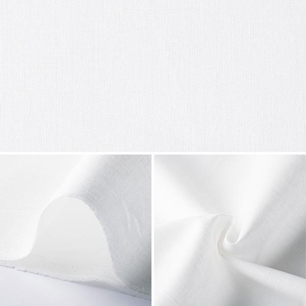 【数量5から】 生地 『綿麻 ホワイト』