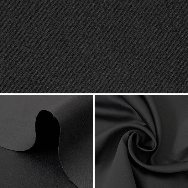 【数量5から】生地 『コスチュームドレスサテン ブラック』【ユザワヤ限定商品】