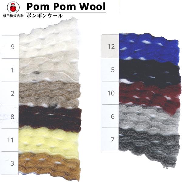 秋冬毛糸 『PomPom Wool (ポンポンウール) 8番色』 DARUMA ダルマ 横田
