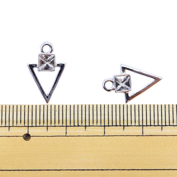 手芸金具 『メタルパーツ 16×10.5mm 2個入り シルバー 271/0358』