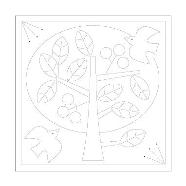 刺しゅう布 『北欧モチーフの花ふきん 布パック H-1030 (ツリー)』 Olympus オリムパス