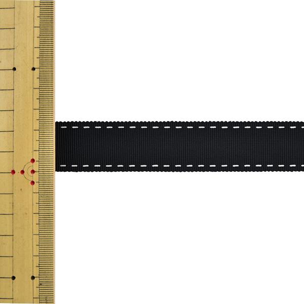 【数量5から】 リボン 『ステッチグログランリボン 4649K 幅約2.5cm 3番色』 MOKUBA 木馬