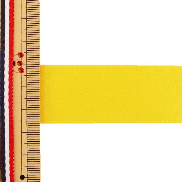 リボン 『両面サテンリボン 黄色 25mm×3m』