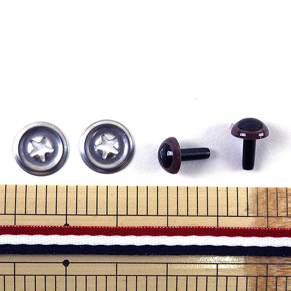 【フェルト・羊毛最大20%オフ】 手芸 目 パーツ 『あみぐるみEYE クリスタルアイ 7.5mm ブラウン』 Hamanaka ハマナカ