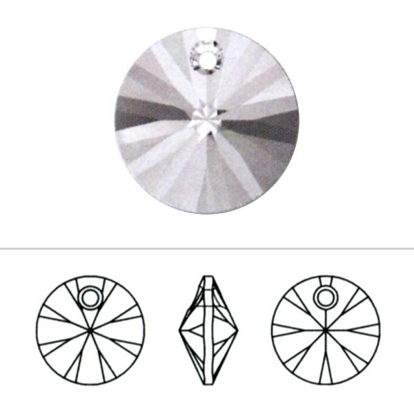 スワロフスキー 『#6428 XILION Pendant クリスタル/AB 6mm 10粒』 SWAROVSKI スワロフスキー社