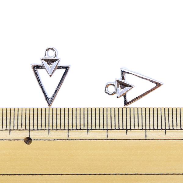手芸金具 『メタルパーツ 16×10.5mm 2個入り シルバー 271/0359』