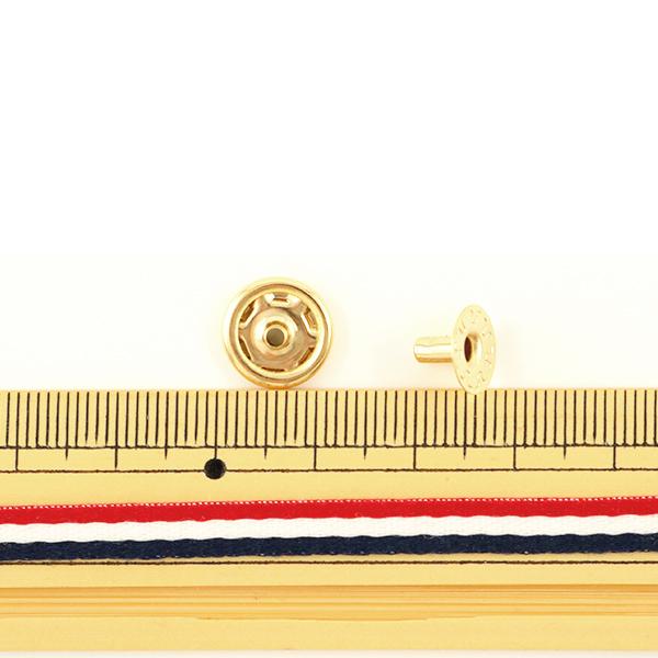手芸金具 『ホック 中 本金 10個入り 11042-11』 LEATHER CRAFT クラフト社