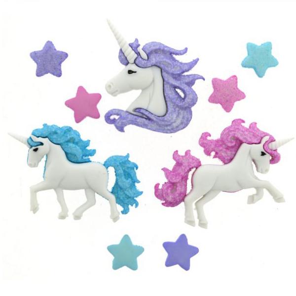 ボタン 『チルドボタン Magical Unicorns』 Dress It Up