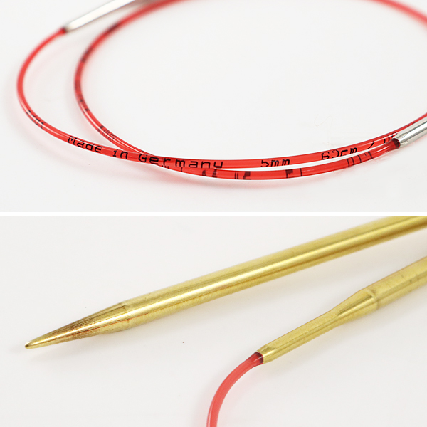 編み針 『addiレース輪針ゴールド 80cm 針サイズ5.5mm』 addi アディ