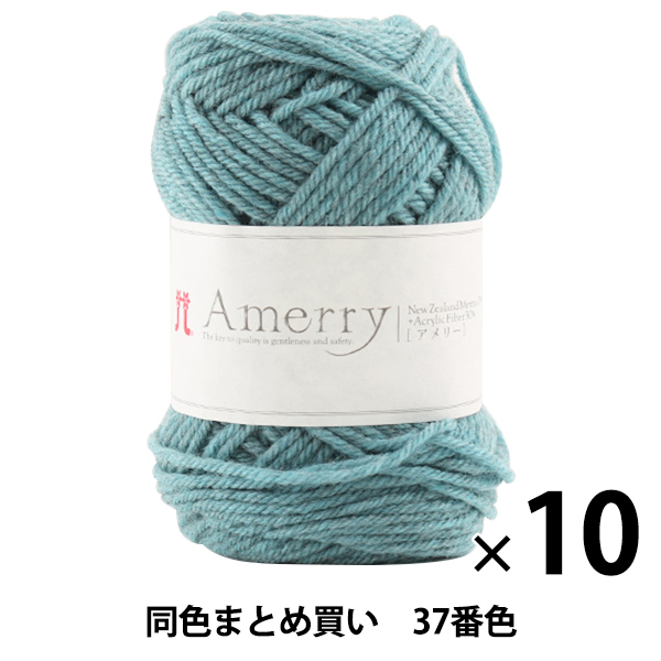 【10玉セット】秋冬毛糸 『Amerry(アメリー) 37番色』 Hamanaka ハマナカ【まとめ買い・大口】