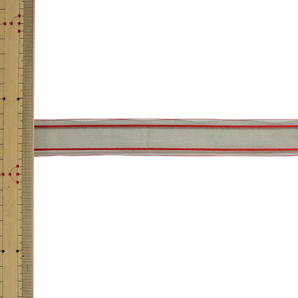 【数量5から】 リボン 『Wライナーオーガンジー 幅約2.4cm 4番色 33211』 TOKYO RIBBON 東京リボン