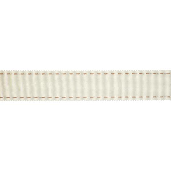【数量5から】 リボン 『ステッチグログランリボン 4649K 幅約2.5cm 12番色』 MOKUBA 木馬