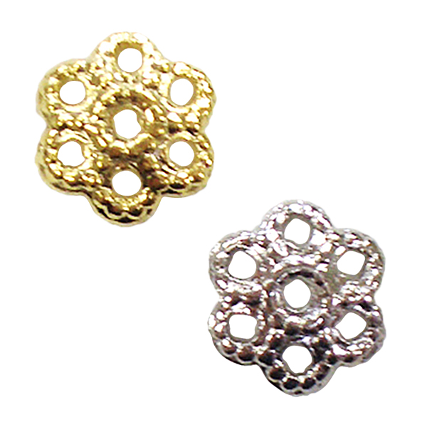 手芸金具 『花座 #3 銀色』