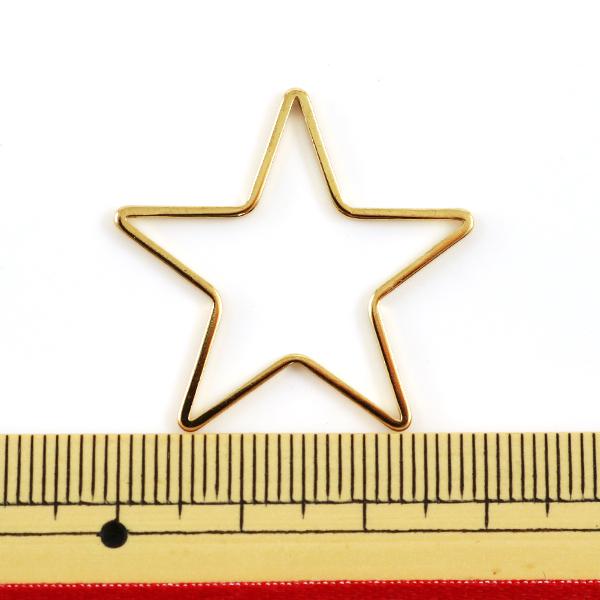 手芸金具 『チャームパーツ 星 1個入 金色 PD-1716 G』