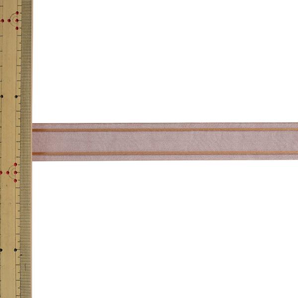 【数量5から】 リボン 『Wライナーオーガンジー 幅約2.4cm 5番色 33211』 TOKYO RIBBON 東京リボン