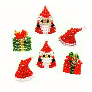 MIYUKI ビーズで作るXmasプチデコパーツキット サンタセット/No.2[クリスマスキット/Xmas]