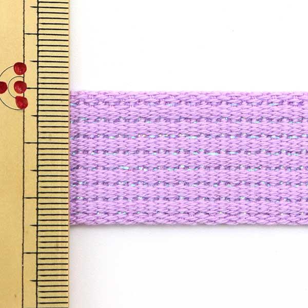 【数量5から】 手芸テープ 『カラーテープ 幅約2.5cm ラメ ラベンダー TPPL25-L』