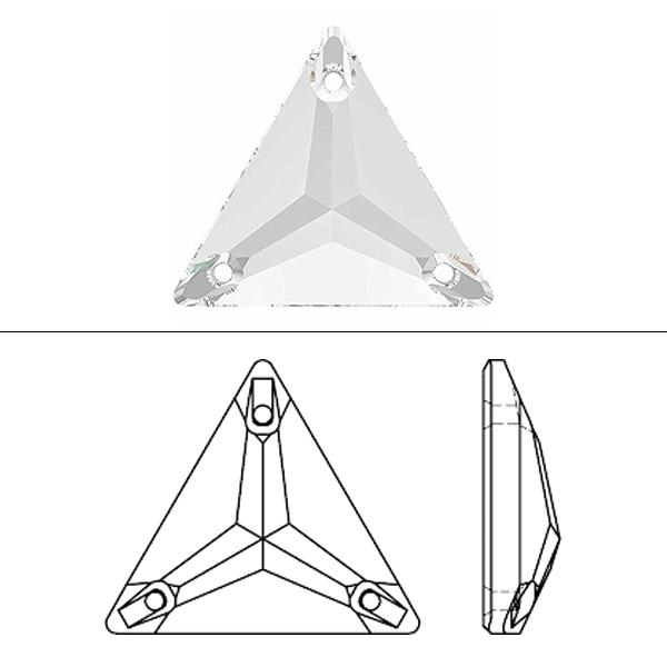 スワロフスキー 『#3270 Triangle Sew-on Stone クリスタル 16mm 1粒』 SWAROVSKI スワロフスキー社