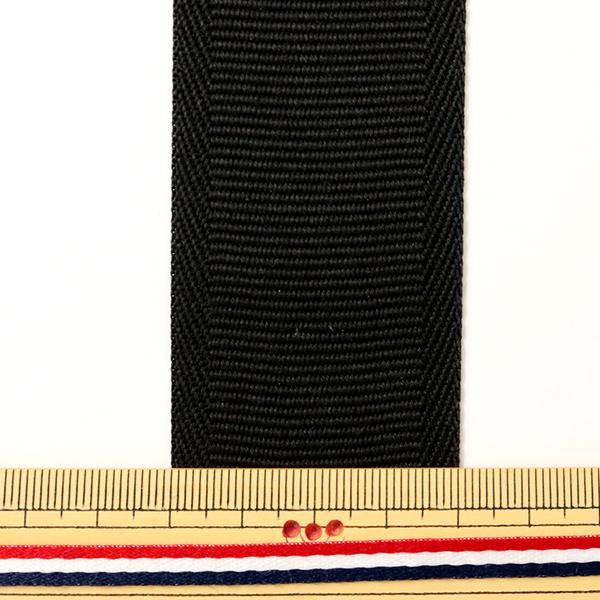 【数量5から】芯地テープ 『ナイロンベルト 40mm巾 黒』