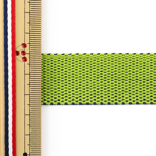 【数量5から】手芸テープ 『リバーシブルテープ 25mm グリーン×ネイビー』