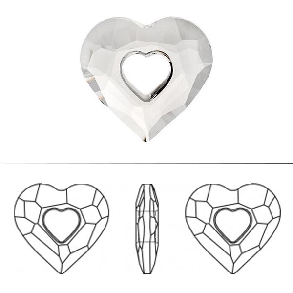 スワロフスキー 『#6262 Miss U Heart Pendant クリスタルゴールデンシャドウ 17mm 1粒』 SWAROVSKI スワロフスキー社