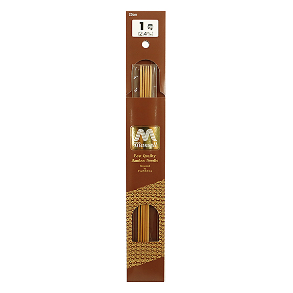 編み針 『硬質竹編針 5本針 1号』 mansell マンセル【ユザワヤ限定商品】