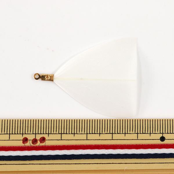 アクセサリー素材 『フェザーパーツ 三角 2本入 ホワイト GM-B-2A』【ユザワヤ限定商品】