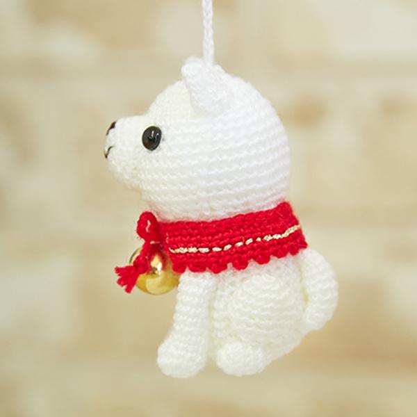 ハマナカ 手芸パック 幸せの鈴(いぬ)H301-524 hamanaka あみぐるみ 毛糸 編み物 干支 和手芸 和調手芸 いぬ お正月 和柄