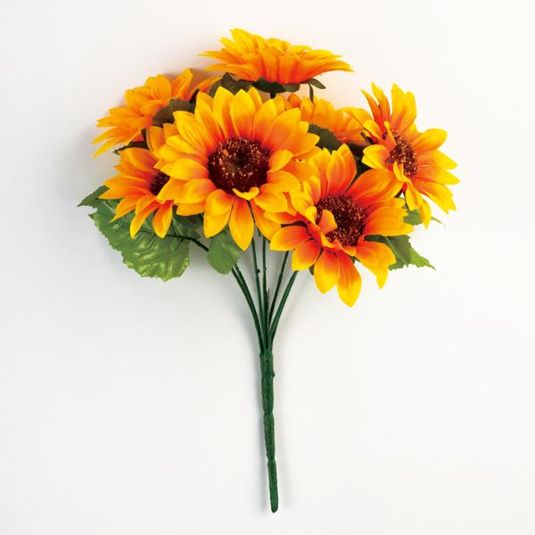 造花 シルクフラワー 『ひまわり サンフラワーブッシュ FD4543-004』
