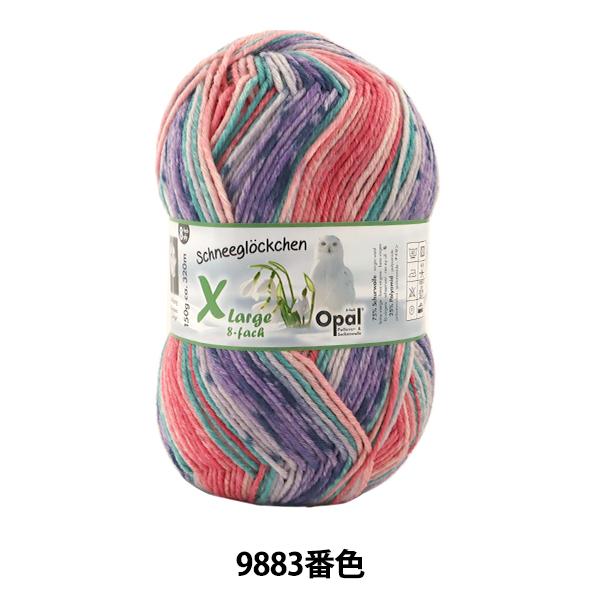 ソックヤーン 毛糸 『Snowdrop(スノードロップ) Xlarge 8ply 9883番色』 Opal オパール