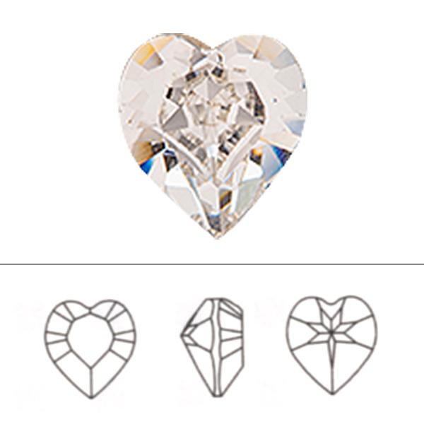 スワロフスキー 『#4884 XILION Heart Fancy Stone ローズ 5.5×5mm 4粒』 SWAROVSKI スワロフスキー社