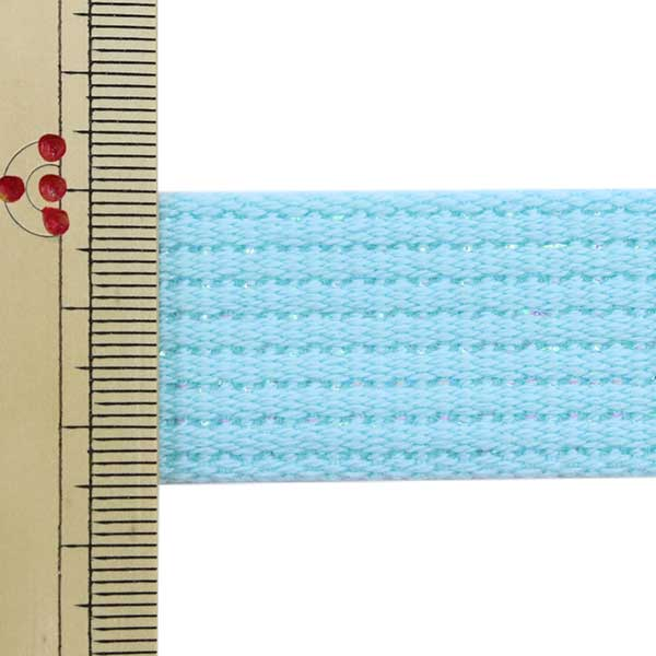 【数量5から】 手芸テープ 『カラーテープ 幅約2.5cm ラメ 青 TPPL25-L』