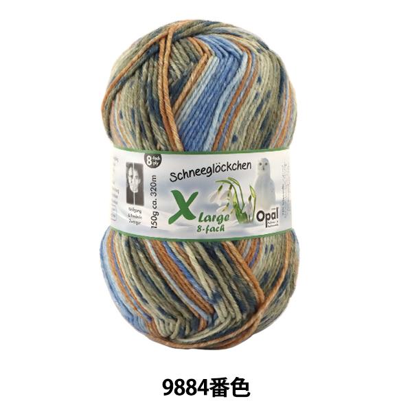 ソックヤーン 毛糸 『Snowdrop(スノードロップ) Xlarge 8ply 9884番色』 Opal オパール