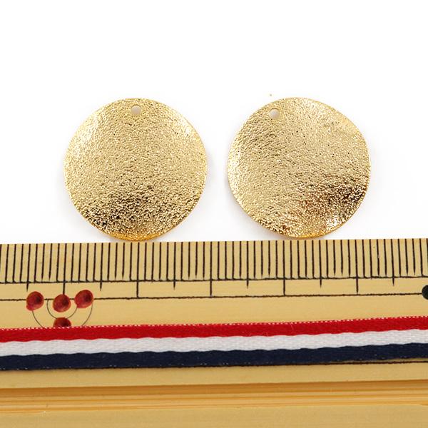手芸金具 『スターダスト ラウンド 20mm ゴールド 2個入』