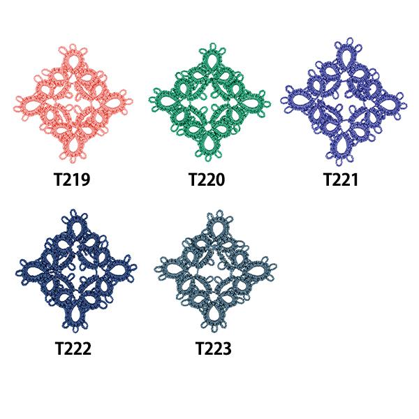 レース糸 『タティングレース糸 (中) T222番色』 Olympus オリムパス